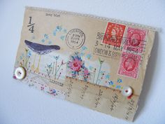 embellished envelope by hens teeth, via Flickr