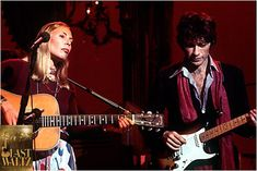 Joni Mitchell and Robbie Robertson, The Last Waltz. The Last Waltz, Robbie Robertson, Take What You Need, Rock And Roll Bands, Neil Young, Concert Posters, My Idol, Singer, Friends