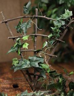 Miniature Fairy Gardens | Mini Real Twig Fairy Garden Trellis - Fairy Garden Miniatures ... by cathy.reddgrove