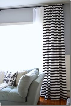 Striped curtains, love!