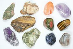 Rough and polished stones