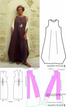 Tunic Sewing Patterns, Clothing Patterns, Dress Patterns, Boho Style Dresses, Nice Dresses, Flattering Outfits, Estilo Boho, Harajuku Fashion, Sewing Clothes