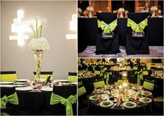 Green Black Decor White Flowers Lime Weddingswhite