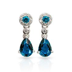 Exquisite Blue Sapphire DiamondAura Earrings*******. by RamsesTreasure on Etsy