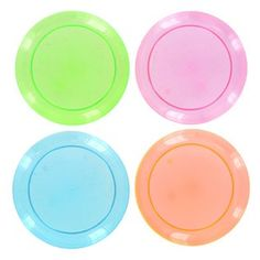 """$7.99  9"""" Neon Party Plates 