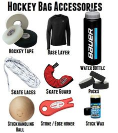 Umm isint this in everyone's bag? I also have a helmet repair kit, spare mouth guard and of course his hockey cards. ( even the coaches come to me when they need something) love being a hockey mom Hockey Helmet, Hockey Gear, Hockey Gifts, Hockey Mom, Hockey Cards, Hockey Stuff, Hockey Tournaments, Hockey Players, Ice Hockey Sticks