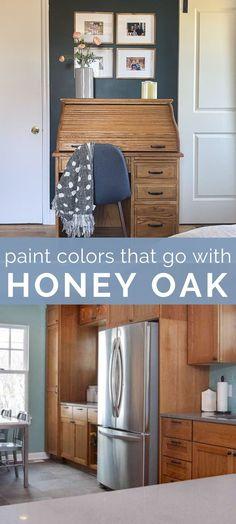 Modern Paint Colors, Paint Colors For Home, Paint Colours, House Colors, Bedroom Paint Colors, Paint For Kitchen Walls, Kitchen Paint Colors, Cabinet Paint Colors, Honey Oak Trim