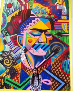 """Frida Kahlo 2015"" My current work at College of DuPage will be there until Nov.6 make sure to check this one out! #fridakahlo #frida #friducha #fridafriday #fridakahloart #mexicanart #mexicanartist #dannyponce #mexico #colors #colores #abstractart #abstract #painting #pintura #artoninstagram #casasgrandes #paquime por art_danny_ponce en Instagram http://ift.tt/1jhJsRC #navitips"