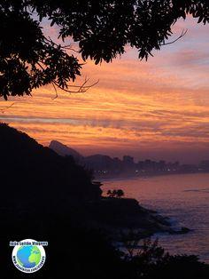 Lindo nascer do Sol no Rio de Janeiro Brasil