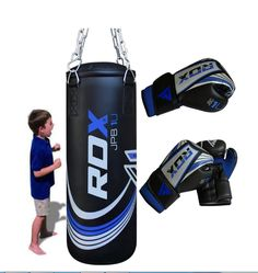 RDX New X1U Demo 2Ft Kids Punch Bag Maya Hide Leather Filled MMA Boxing Punching