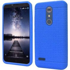 ZTE Zmax Pro Carry Z981 Silicone Case - Blue Ultra Thin Rugged 1