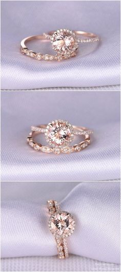 Art Deco diamond engagement ring / http://www.deerpearlflowers.com/rose-gold-engagement-rings-from-milegem/