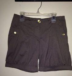 Womens Vero Moda Brown Pleated Front Cuffed Safari Shorts Size 34 $24.99 #safarishorts #veromoda #shorts
