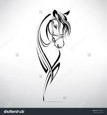 Bildergebnis für simple cartoon silhouettes sketches horse