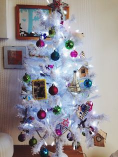 White en pink christmas tree