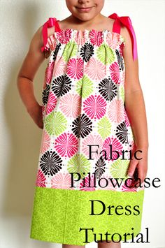 Cute alternative to the typical pillowcase dress.  Tutorial.