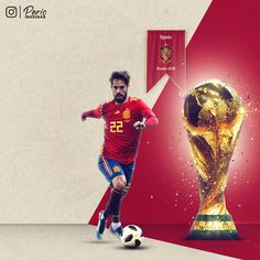 Spain wallpaper for the 2018 World Cup Finals. World Cup Russia 2018, World Cup 2018, Fifa World Cup, Mens World Cup, Football Updates, Spain Soccer, World Cup Champions, World Cup Final, Isco