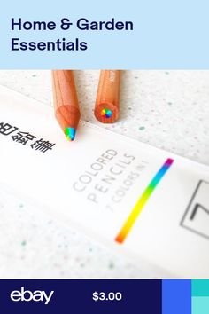 9d7ac4f8eaa Rainbow Colored Pencil 7 Colors in 1 MADE IN JAPAN (4 pcs) Rainbow Colors
