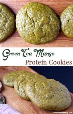 Green Tea Mango Protein Cookies