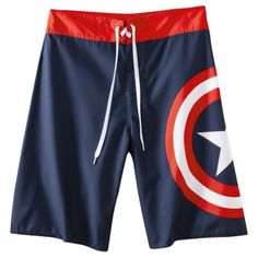 Men s Captain America Board Short - Blue Men s Swimsuits f80cd040d