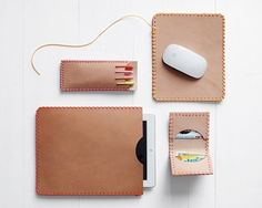 DIY, Leather accessories, leather, crafts, electronic accessories, ipad holder, DIY wallet, mousepad, wallet, penholder, tooling leather, lanyard