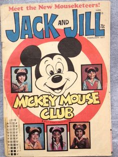 """The new MOUSEKETEERS debut in JACK and JILL Feb. 1977  Also article within by Jimmy Osmond """"My Family Is the Osmonds"""""""