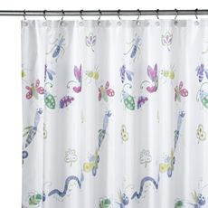 Bugs & Leaves Shower Curtain - Bed Bath & Beyond $20