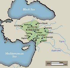 Probably originating from the area beyond the Black Sea, the Hittites first occupied central Anatolia, making their capital at Hattusa (modern Bogazköy). Early kings of the Hittite Old Kingdom, such as Hattusilis I (reigned c. 1650-c. 1620 BC), consolidated and extended Hittite control over much of Anatolia and northern Syria. Hattusilis' grandson Mursilis I raided down the Euphrates River to Babylon, putting an end (c. 1590 BC) to the Amorite dynasty there.