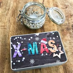 Cadouri - handmade Shop   mit Liebe hergestellte Produkte für Zwei- & Vierbeiner   Blechdose X-MAS Personalized Items, Blue Butterfly, Tin Lunch Boxes, Wrapping Papers, Goodies, Wrapping Gifts