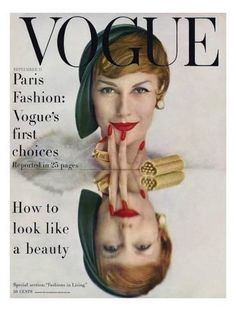 Vogue Cover - September 1957 by John Rawlings - Model Mary Jane Russell Vogue Editorial, Editorial Fashion, Patti Hansen, Vogue Fashion, 1950s Fashion, Vintage Fashion, High Fashion, Fashion Art, Fashion Models