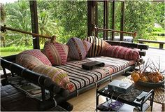 Awesome Asian Style Interiors – Bali Sofa great bamboo daybed and Indonesian fabrics! The post Asian Style Interiors – Bali Sofa great bamboo daybed and Indonesian fabrics! appeared first on Dol Decor . Balinese Decor, Indonesian Decor, Balinese Interior, Bamboo Sofa, Bamboo Furniture, Console Furniture, Find Furniture, Quality Furniture, Style At Home