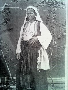Serbian woman wearing the Jakicar . 19th c
