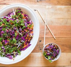 Tired of boring salads and got 5 minutes? Try something new and absolutely stupendous on your plate today: 5-Minute Asian-Inspired Salad! This every-color salad is 100% raw, vegan, gluten-free and comes with sprouted ingredients for extra yum. No surprise then that it's quickly become my favorite go-to meal.