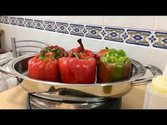 Tapas, Stuffed Peppers, Vegetables, Food, Youtube, Frying Pans, Meals, Oven, Food Items