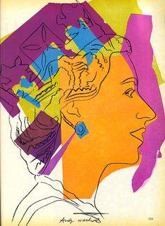 Queen Elizabeth, by Warhol.