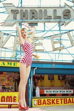 Peppermint Suzy swimsuit