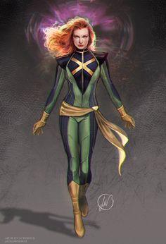 My concept version of X-men in the Marvel Cinematographic universe, Jean Grey Marvel Dc, Marvel Women, Marvel Girls, Marvel Heroes, Marvel Cyclops, Wolverine Art, Comics Girls, Xmen Comics, Arte Dc Comics