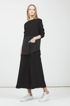 LOOKAST CHAPTER #7 - Black shirt knit & Soft black wide pants