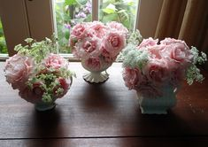 Cream Pitcher Bouquets