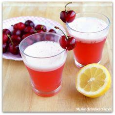 Homemade Organic Cherry Lemonade