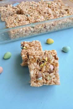 Mini Eggs Rice Krispies Treats - She Bakes Here
