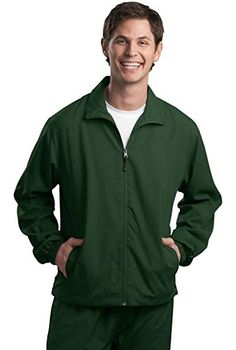 0a68d433a71 Sport-Tek Full-Zip Wind Jacket, 4XL, Forest Green Review