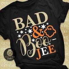Halloween Svg Bad And Boojee Svg Funny Halloween Svg Halloween Costume Svg Halloween Shirt Svg Women Fall Shirts, Mom Shirts, Cute Shirts, Funny Shirts, Cute Shirt Designs, Halloween Shirt, Funny Halloween, Latest T Shirt, Vinyl Shirts
