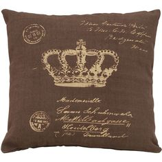 Mademoiselle Pillow in Brown