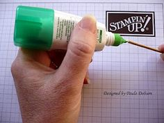 *Genius! I have been looking for a product to buy, now I can make my own handy little tool to pick up those small pieces! Tombow Multi Glue and a wooden skewer. Put a drop of glue on the end of your skewer and leave it to dry. Because Tombow is repositional when dry, this will enable you to pick up those pesky little pieces.