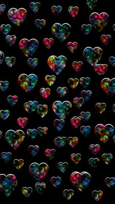 By Artist Unknown. Glitter Phone Wallpaper, Heart Iphone Wallpaper, Bubbles Wallpaper, Pop Art Wallpaper, Cute Wallpaper For Phone, Cute Wallpaper Backgrounds, Cellphone Wallpaper, Colorful Wallpaper, Aesthetic Iphone Wallpaper
