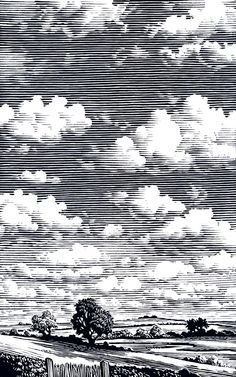 Image result for woodcut clouds