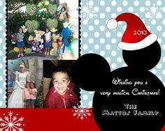 blue red disney christmas card by mmcarddesigns on etsy 2000 disney christmas christmas