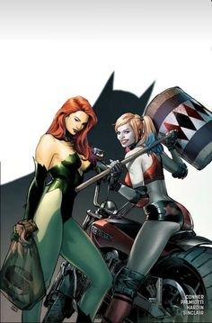 Harley Quinn and Poison Ivy Comic Movies, Comic Book Characters, Comic Character, Dc Comics, Batman Comics, Comics Girls, Dc Poison Ivy, Pamela Isley, Comic Book Girl