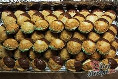 Nuts of Cinderella - Mary - - Nuts of Cinderella - Mary Christmas Baking, Christmas Cookies, Petra, Hungarian Recipes, Cake Pops, Biscuits, Caramel, Sweet Tooth, Bakery